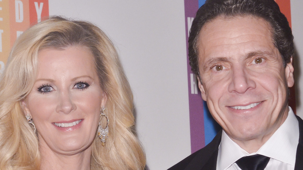 Kerry Kennedy and Andrew Cuomo smiling at event