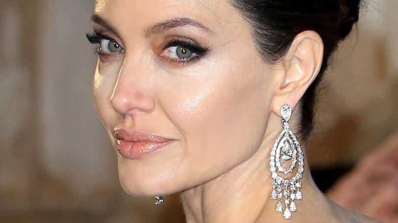 Angelina Jolie looking back