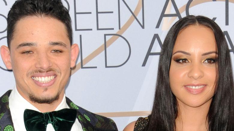 Anthony Ramos, Jasmine Cephas Jonas smiling