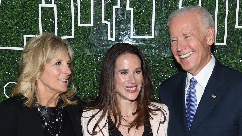 Ashley Biden with Jill and Joe Biden