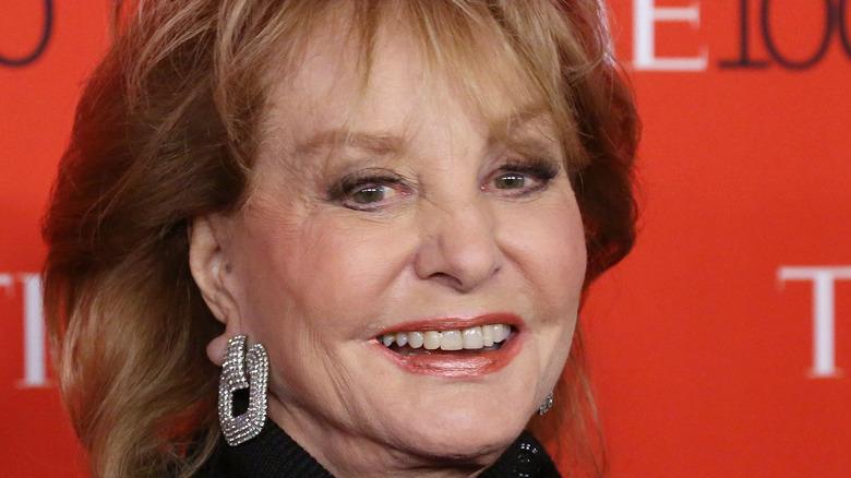 Barbara Walters posing on red carpet