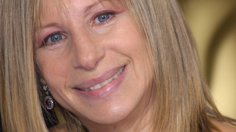 Barbra Streisand smiling on the red carpet