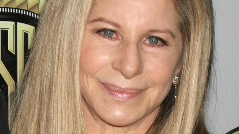 Barbra Streisand posing