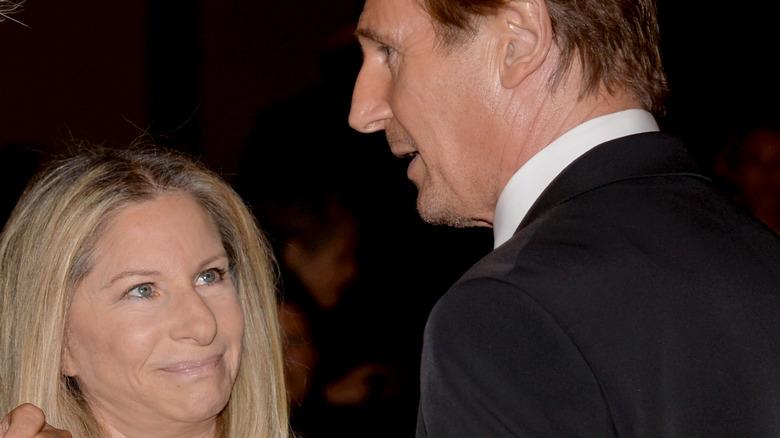 Barbra Streisand and Liam Neeson