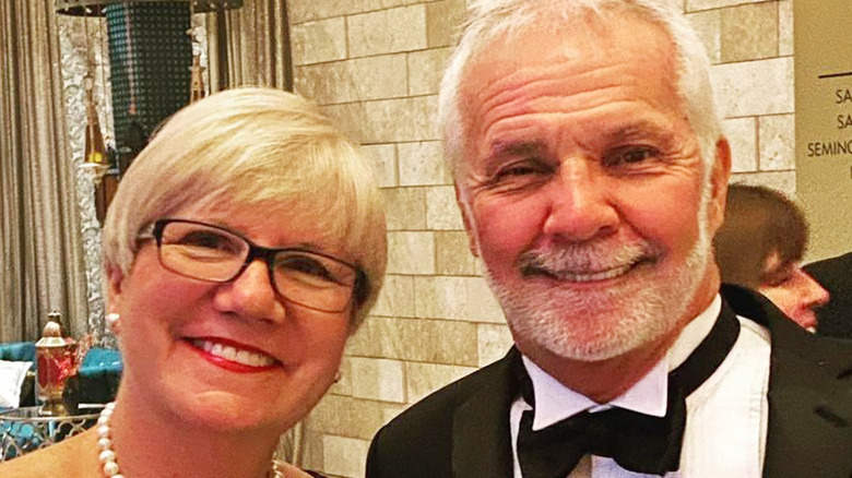 Captain Lee Rosbach and wife