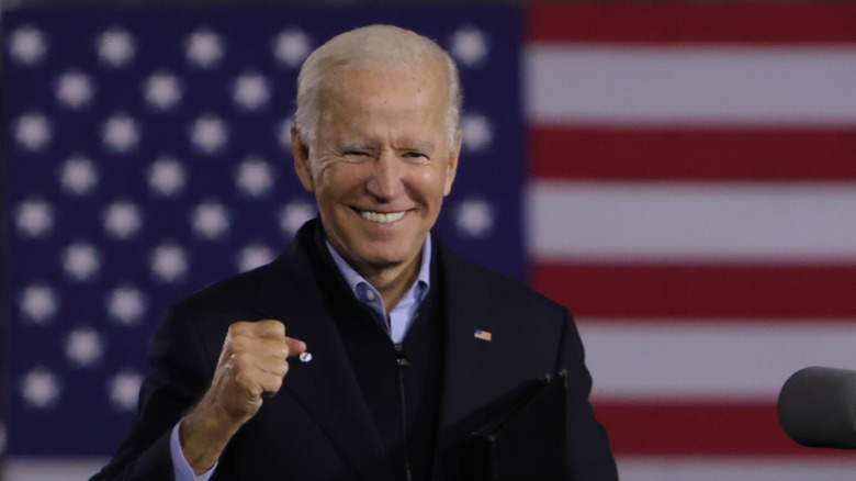 Joe Biden at campaign stop in Johnstown, PA in 2020