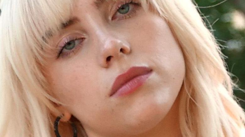 Billie Eilish with blond hair