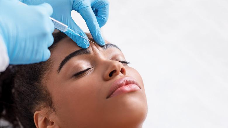 Woman receiving Botox