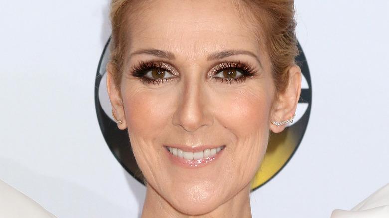 Celine Dion smiling on red carpet in 2017