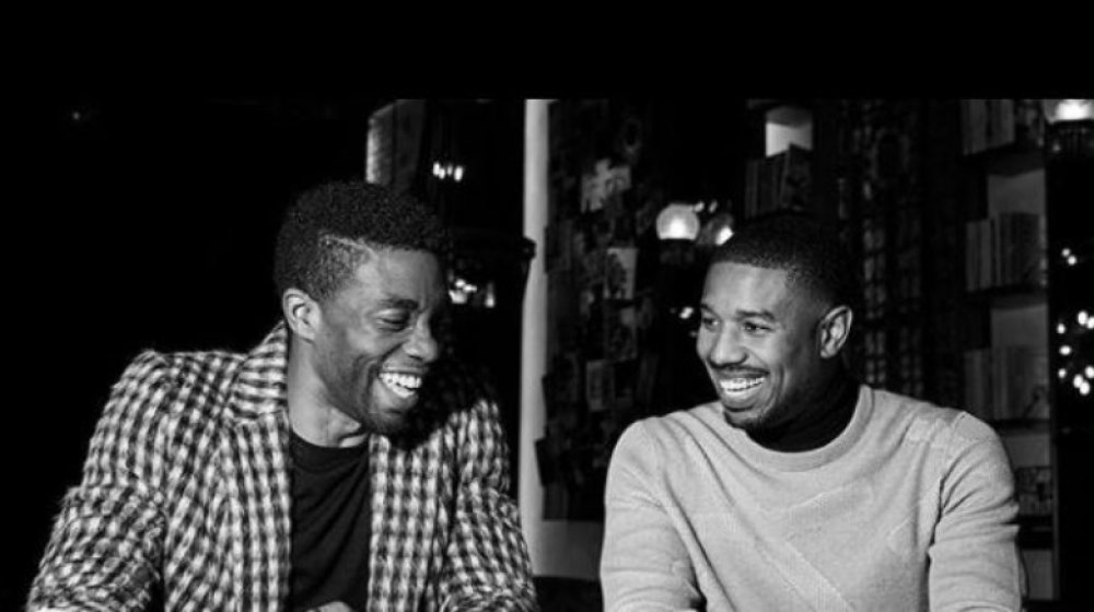 Chadwick Boseman and Michael B Jordan