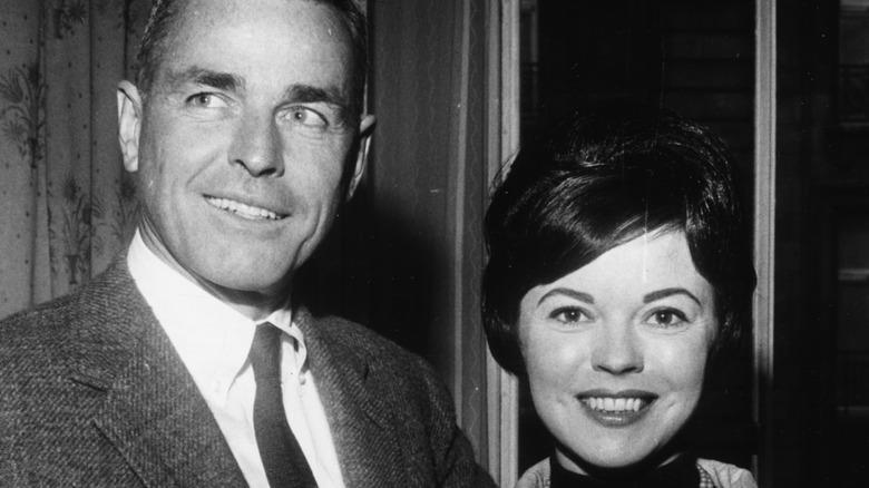 Shirley Temple and husband Charles Alden Black smiling