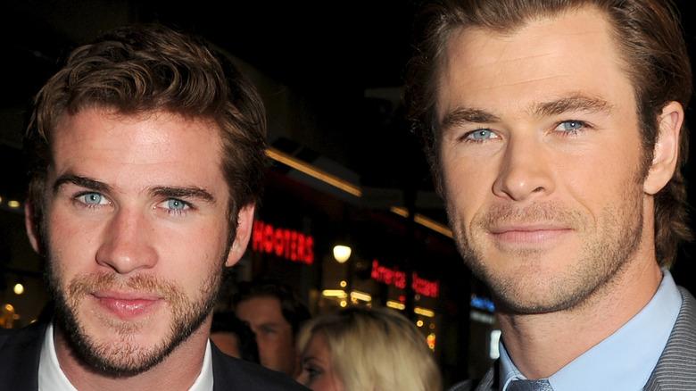 Chris Hemsworth and Liam Hemsworth smiling
