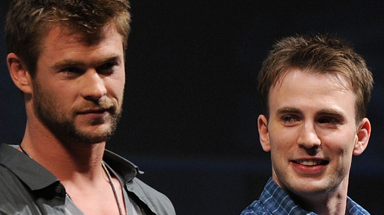 Chris Hemsworth and Chris Evans at Captain America panel