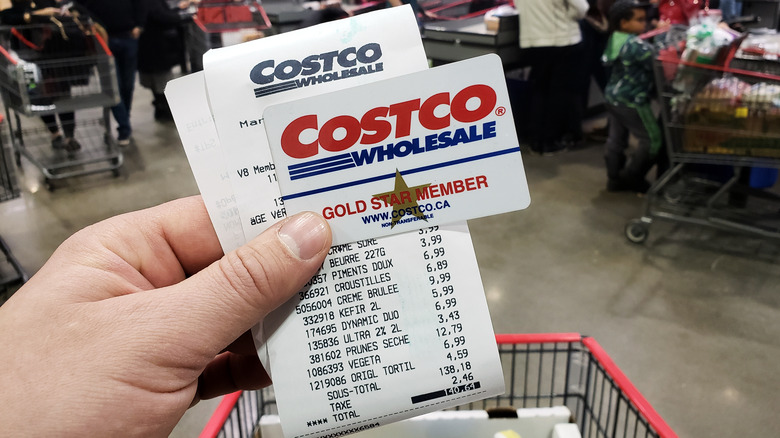 Costco member card and receipt
