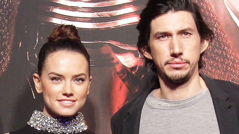 Daisy Ridley and Adam Driver