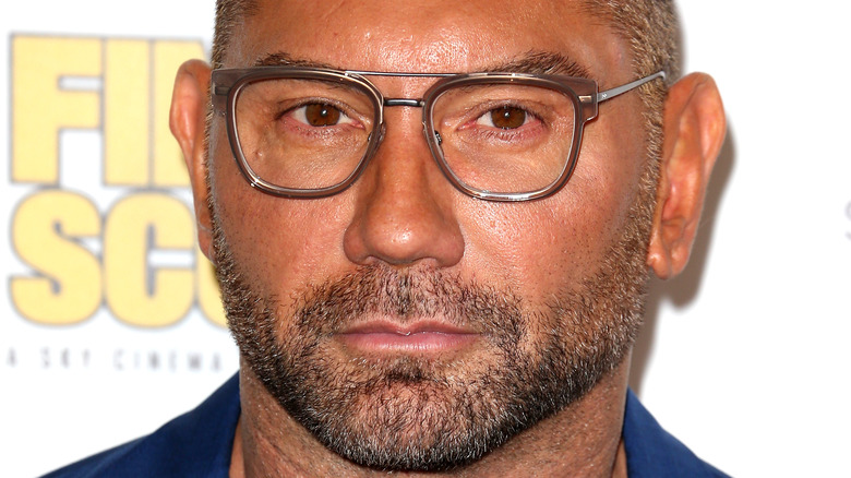 Dave Bautista on a red carpet