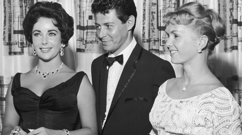 Elizabeth Taylor with Debbie Reynolds and Eddie Fisher
