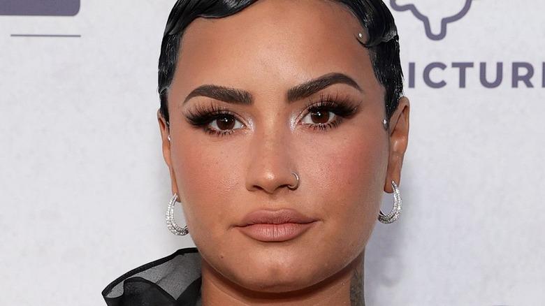 Demi Lovato at documentary premiere