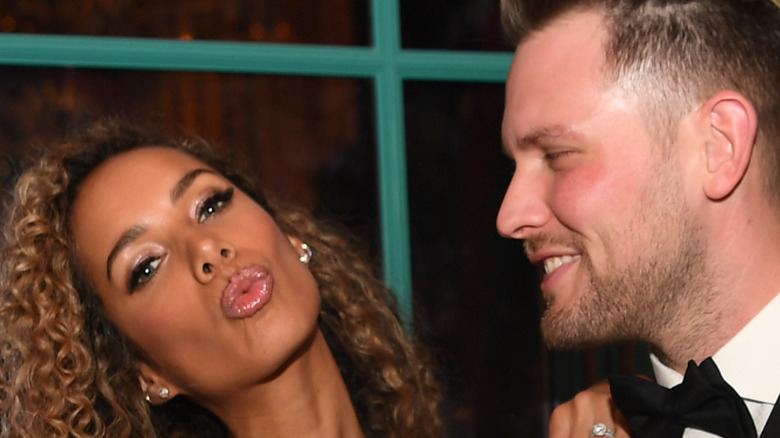 Dennis Jauch and Leona Lewis on the red carpet