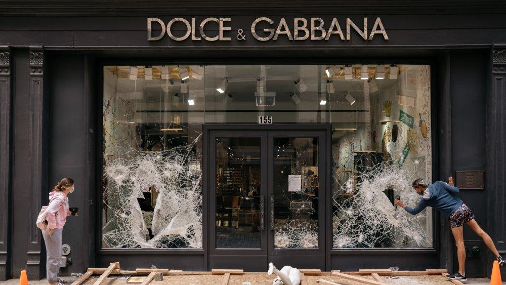 Destroyed Dolce & Gabbana storefront