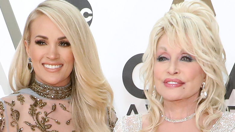 Carrie Underwood and Dolly Parton at CMA Awards