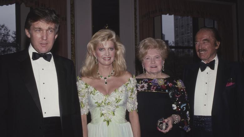 Donald Trump and his parents