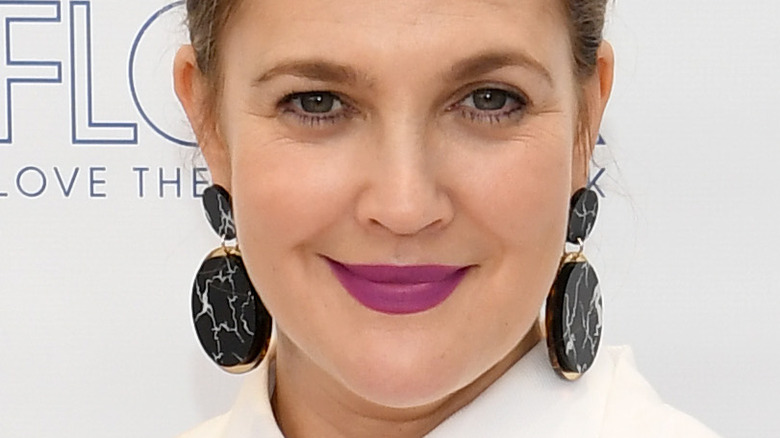 Drew Barrymore at event for beauty line