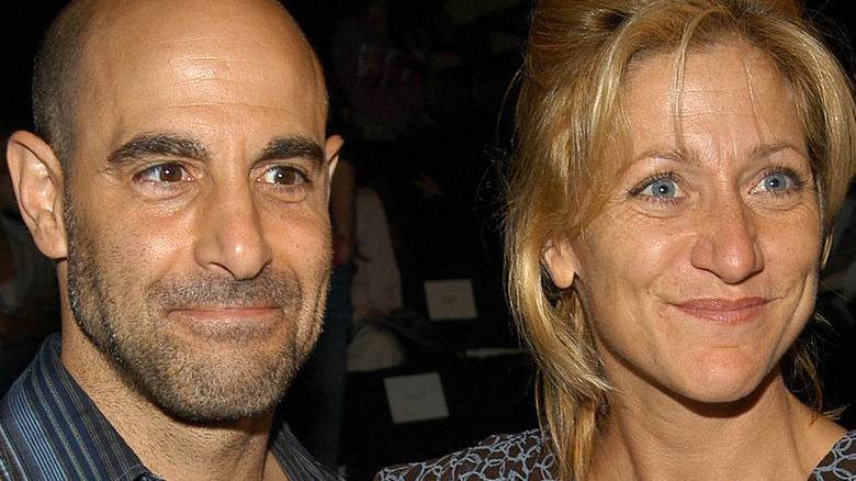 Edie Falco and Stanley Tucci