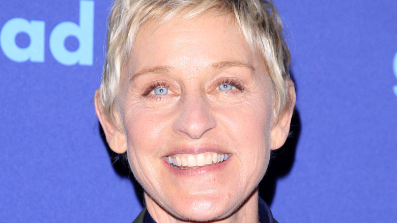 Ellen DeGeneres smiling on red carpet