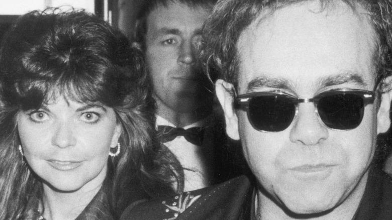 Renate Blauel and Elton John