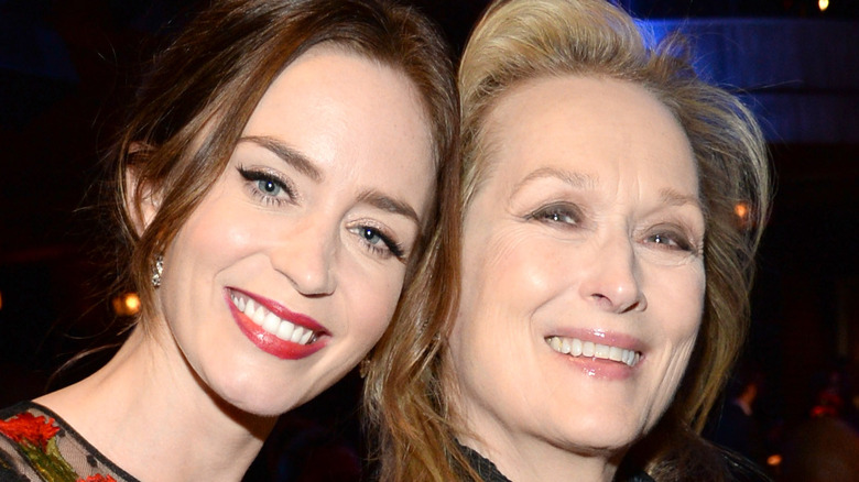 """Emily Blunt and Meryl Streep attend the after party for the world premiere of """"Into the Woods"""" at The Edison Ballroom"""