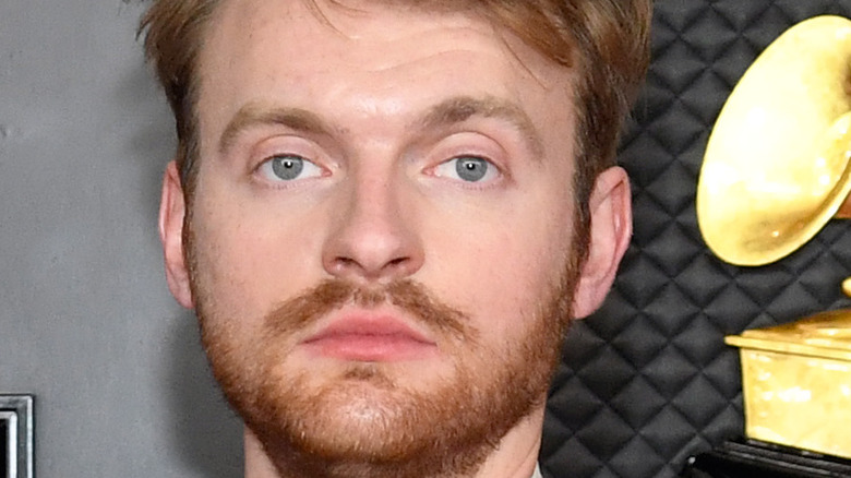 Finneas on the red carpet.