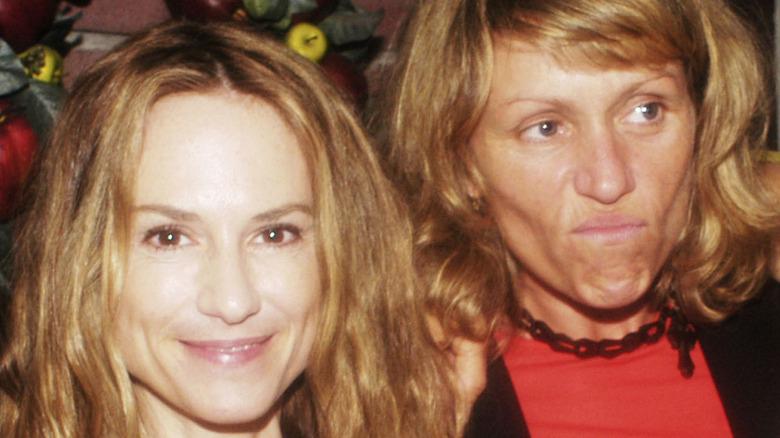 Frances McDormand and Holly Hunter at a party