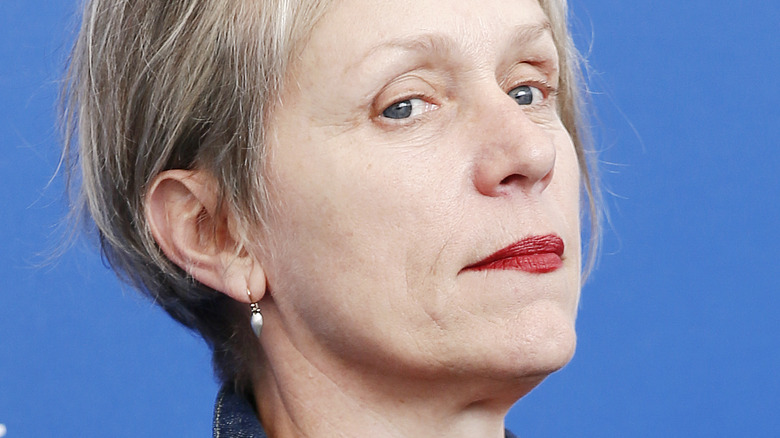 Francis McDormand looking to side