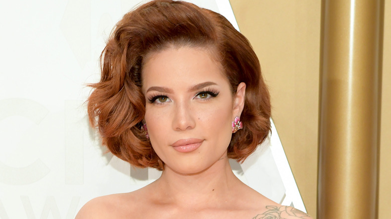 Halsey at a red carpet event in 2019