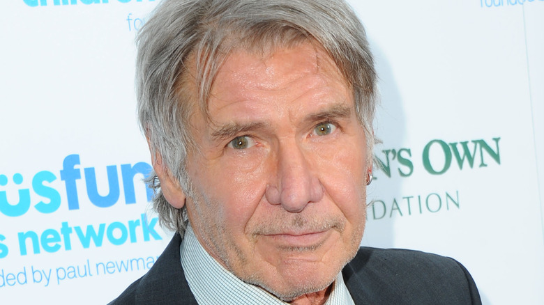 Harrison Ford looking dapper on the red carpet.