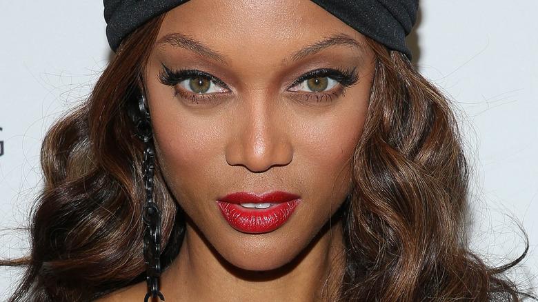 Tyra Banks' hazel eyes