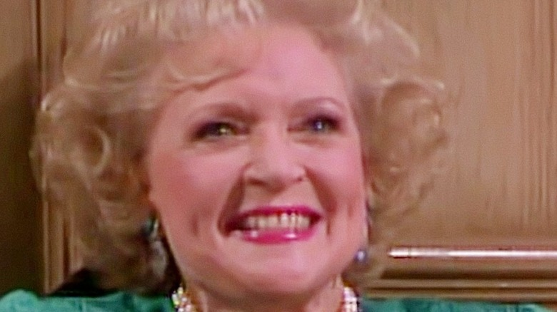 Betty White as Rose Nylund smiling