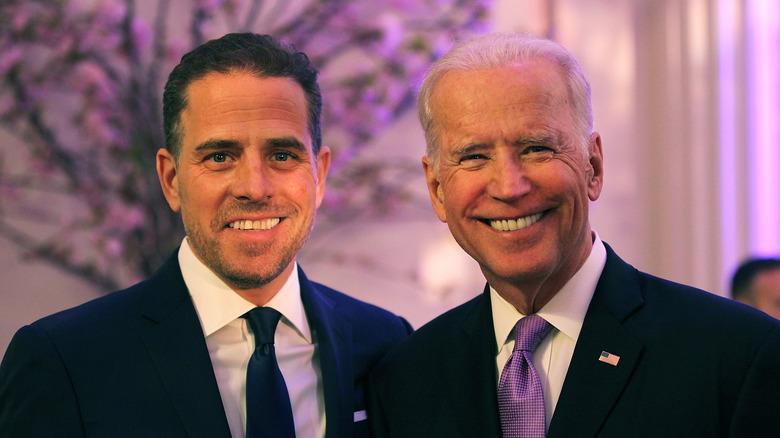 Hunter Biden with father, Joe Biden