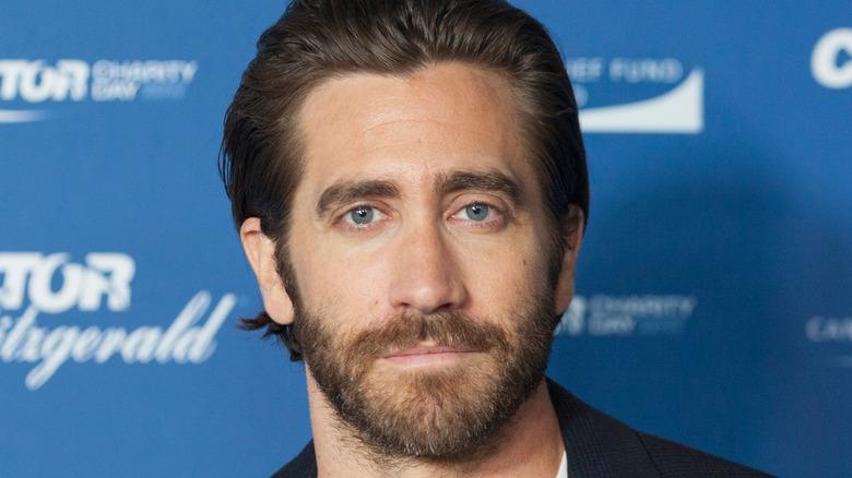Jake Gyllenhaal looking serious
