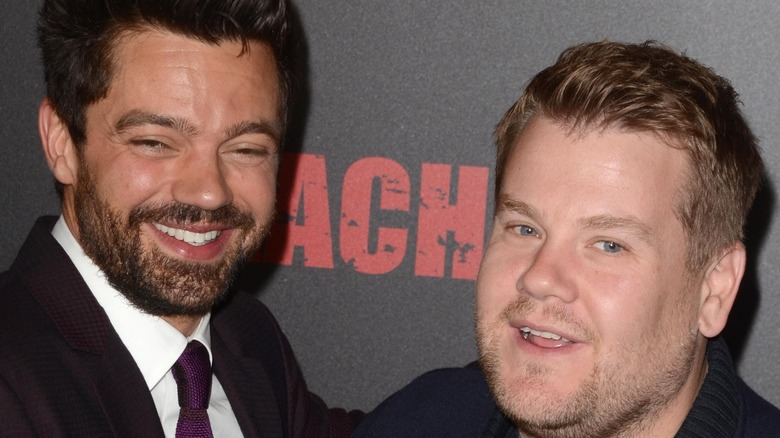 Dominic Cooper and James Corden at Preacher premiere