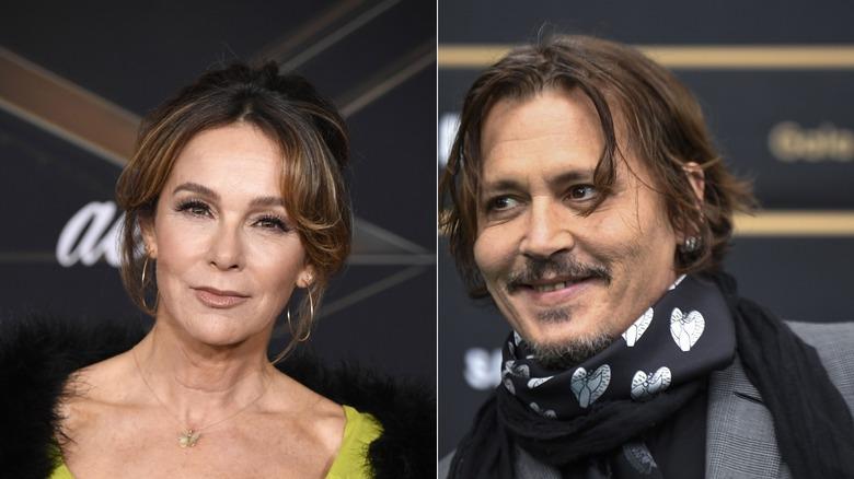Jennifer Grey and Johnny Depp