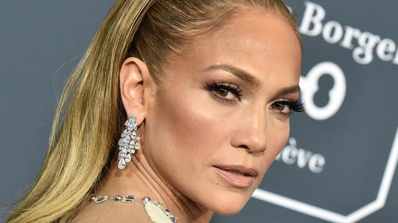 Jennifer Lopez on the red carpet.