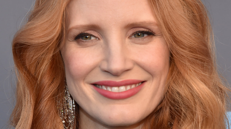 Jessica Chastain smiling for a picture