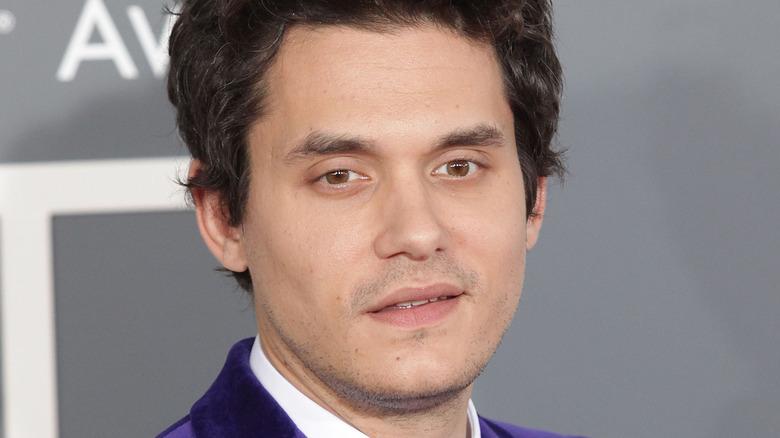 John Mayer on the red carpet.