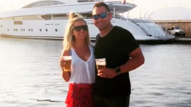 Johnny Damon and wife Michelle Damon