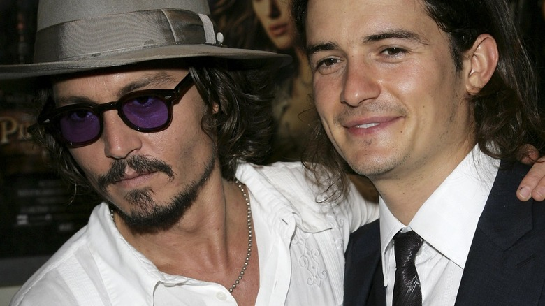 Orlando Bloom and Johnny Depp at event