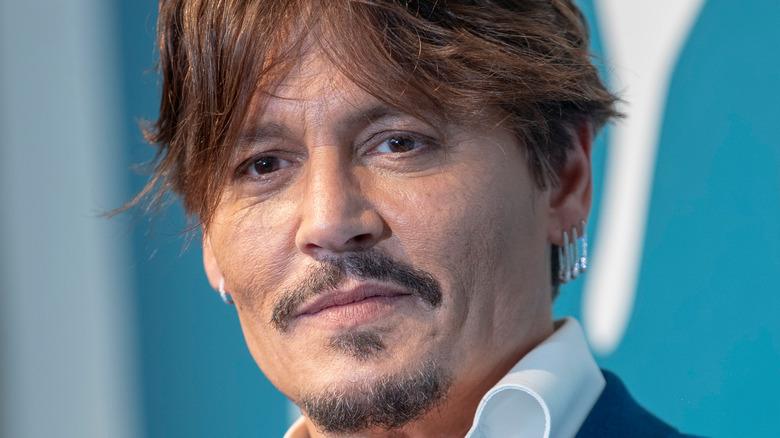 Johnny Depp smiling