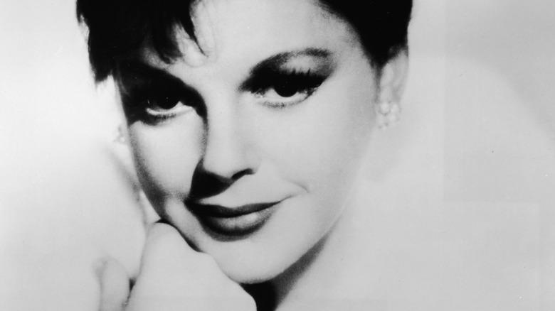 Judy Garland with cat eye makeup