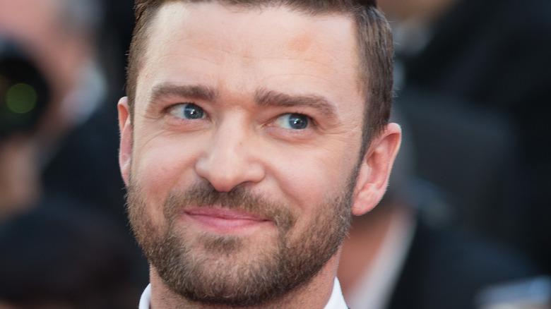 Justin Timberlake smirking